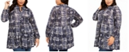 Style & Co Plus Size Floral Ruffle Blouse, Created For Macy's