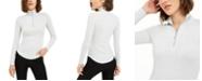 Juicy Couture Juniors' Rib-Knit Half-Zip Turtleneck Top