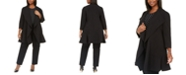 Anne Klein Plus Size Open-Front Ruffle Jacket
