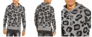 INC International Concepts I.N.C. Men's Leopard Sweater Hoodie, Created For Macy's