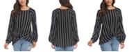 Karen Kane Striped Twist-Hem Top