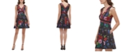 GUESS Printed Scuba Fit & Flare Dress