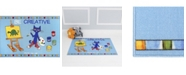 """Pete the Cat Elementary Be Creative Blue 35.4"""" x 4'3"""" Area Rug"""