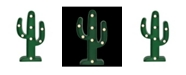Northlight Battery Operated LED Lighted Cactus Marquee Sign