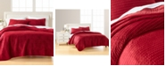 Martha Stewart Collection CLOSEOUT! Velvet Channel Stitch  Full/Queen Quilt, Created for Macy's