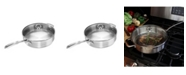 Chantal Induction 21 Steel Cookware 5Qt. Saute Skillet With Glass Lid