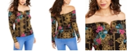 Thalia Sodi Sweetheart-Neck Printed Top, Created For Macy's