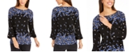 Charter Club Floral Print Bell Sleeve Blouse, Created For Macy's