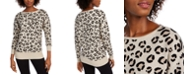 Maison Jules Leopard Print Sweater, Created for Macy's