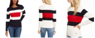 Tommy Hilfiger Flag Colorblocked Cotton Cable-Knit Sweater