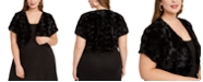 BCX Trendy Plus Size Faux-Fur Shrug