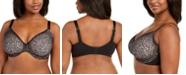 Calvin Klein Plus Size Seductive Comfort Running Leopard Unlined Perfect Coverage Demi Bra QF5665