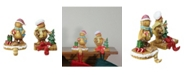 "Northlight Set of 2 Glittered Gingerbread Christmas Stocking Holders 5.25"""