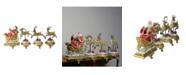 "Northlight Set of 4 Santa and Reindeer Glittered Christmas Stocking Holder 9.5"""