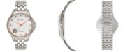 Jessica Simpson Women's Genuine Blue and White Topaz Silver Tone Bracelet Watch 38mm