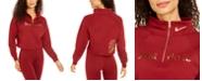 Nike Women's Sportswear Shine Metallic-Graphic Half-Zip Top