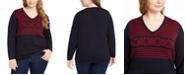 Tommy Hilfiger Plus Size Cotton Ivy Fair Isle Sweater