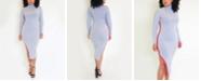 Rebdolls Side Stripe Turtleneck Bodycon Midi Dress by The Workshop at Macy's