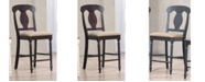 ICONIC FURNITURE Company Napoleon Back Upholstered Seat Counter Stool