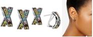 EFFY Collection EFFY® Multi-Gemstone Crisscross Curved Drop Earrings (3-1/5 ct. t.w.) in Sterling Silver