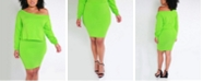 Rebdolls Over the Shoulder Top and Bodycon Mini Skirt Set by The Workshop at Macy's