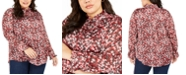 Tommy Hilfiger Plus Size Printed Ruffled Button-Front Top