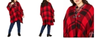 Tommy Hilfiger Plus Size Plaid Wrap Sweater, Created for Macy's