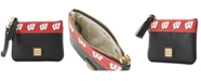 Dooney & Bourke Wisconsin Badgers Saffiano Stadium Zip Wristlet