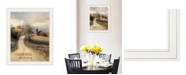 "Trendy Decor 4U Country Road Take Me by Lori Deiter, Ready to hang Framed Print, White Frame, 19"" x 23"""