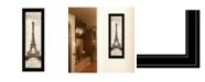 "Trendy Decor 4U Paris Panel by Cloverfield Co, Ready to hang Framed Print, Black Frame, 8"" x 23"""