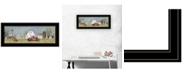 "Trendy Decor 4U Spring On The Farm by Billy Jacobs, Ready to hang Framed Print, Black Frame, 39"" x 15"""