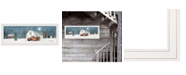 """Trendy Decor 4U Winter on The Farm by Billy Jacobs, Ready to hang Framed Print, White Frame, 39"""" x 15"""""""