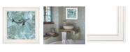 "Trendy Decor 4U Simplicity Humpback by Britt Hallowell, Ready to hang Framed Print, White Frame, 15"" x 15"""