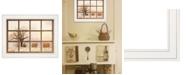 "Trendy Decor 4U View of Fields by Lori Deiter, Ready to hang Framed Print, White Window-Style Frame, 19"" x 15"""