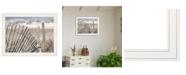 "Trendy Decor 4U On The Coastline by Lori Deiter, Ready to hang Framed Print, White Frame, 27"" x 21"""