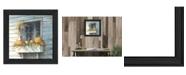 "Trendy Decor 4U Trendy Decor 4U Window Dressing By John Rossini, Printed Wall Art, Ready to hang, Black Frame, 15"" x 15"""