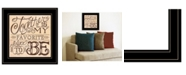 "Trendy Decor 4U Together by Deb Strain, Ready to hang Framed Print, Black Frame, 15"" x 15"""