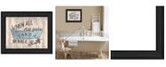 "Trendy Decor 4U Bathroom Humor by Debbie DeWitt, Ready to hang Framed Print, Black Frame, 19"" x 15"""
