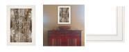 "Trendy Decor 4U Tis the season Snowflakes by Cindy Jacobs, Ready to hang Framed Print, White Frame, 11"" x 15"""