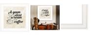 "Trendy Decor 4U Trendy Decor 4U A Silent Scream for Coffee by SUSAn Ball, Ready to hang Framed Print, White Frame, 15"" x 15"""