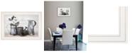"Trendy Decor 4U Floral Farmhouse II by Robin-Lee Vieira, Ready to hang Framed Print, White Frame, 21"" x 15"""