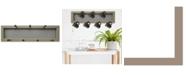 "Trendy Decor 4U 7-Peg Mug Rack by Millwork Engineering, Taupe Frame, 26"" x 7"""