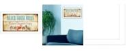 "Trendy Decor 4U Beach House Rules By Mollie B., Printed Wall Art, Ready to hang, White Frame, 11"" x 20"""