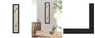 """Trendy Decor 4U Kitchen Is The Heart of The Home by Millwork Engineering, Ready to hang Framed Print, Black Frame, 8"""" x 33"""""""