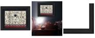 "Trendy Decor 4U Bathroom by Linda Spivey, Ready to hang Framed Print, Black Frame, 19"" x 15"""