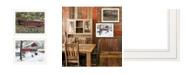 "Trendy Decor 4U Trendy Decor 4U Covered Bridge Collection III 2-Piece Vignette by Billy Jacobs, White Frame, 27"" x 21"""