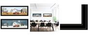 "Trendy Decor 4U Billy Jacobs Seasonal-Autumn/Winter 2-Piece Vignette, Black Frame, 39"" x 15"""