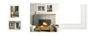 "Trendy Decor 4U A Picnic Getaway 2-Piece Vignette by John Rossini, White Frame, 15"" x 19"""