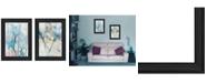 """Trendy Decor 4U Graden Des Peint 2-Piece Vignette by Sheila Elsea, Black Frame, 15"""" x 19"""""""