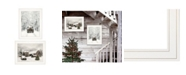 "Trendy Decor 4U Trendy Decor 4U Antique Christmas 2-Piece Vignette by Lori Deiter, White Frame, 19"" x 15"""